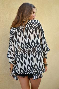 Lace & Whiskey Clothing | Aiko Kimono Cardigan