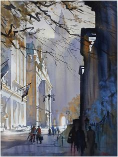 Thomas Schaller - has become one of my favorite watercolor artist. He seems to paint the darkness (the shadows) creating an illumination within the remaining spaces. Masterful!