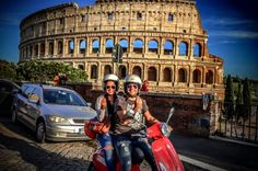 Rome Self-Guided Trip on Vespa with Dinner What better way to enjoy your journey in Rome, riding a fun Vespa? Discover many of the wonders of Ancient Rome. A full day with itinerary and a special dinner are included. Spring time in Rome is a lovely time to be charmed by some of the most important monuments it has to offer, including the Colosseum, the Fori Imperiali, the Piazza Venezia, the Piazza della Repubblica and many others. Take a load off and let your Vespa car...