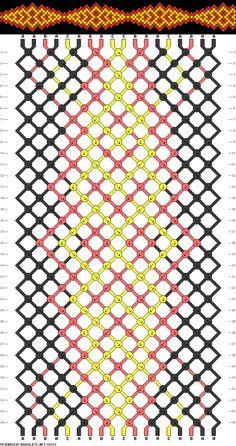 Muster # 39331, Streicher: 18 Zeilen: 34 Farben: 3