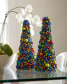 "Horchow H6W87 19"" Multicolored Ball Tree or you can make it yourself."