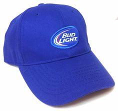 BUD LIGHT BEER HAT Blue White Curved-Bill Men Women Velcro-Adjustable Ball  Cap  BaseballCap b5225fa1b852