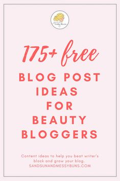 Blog Post Ideas Beauty: Struggling to come up with new content for your blog? This free download lists more than 200 awesome blog post ideas that will help you overcome writer's block and fill your editorial calendar. #contentmarketing #bloggingtips #beautyblogger #freebies #eliteblogacademy