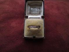 Art Deco 18ct white gold single cut 8/8 diamond full eternity wedding band ring
