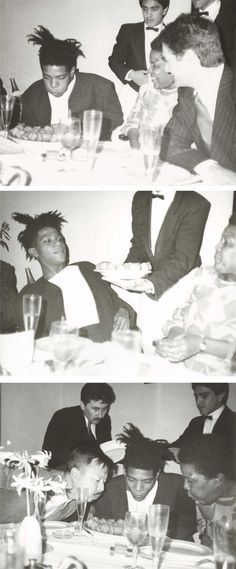 Jean-Michel Basquiat, Basquiat's Mother, Michael Chow and Friends. Photo by Andy Warhol