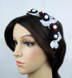low postage to worldwide, we provide excellent professional package.         This item is original designed by us. Inatoz owns the design. Please contact us if you are interested in our brand and re-sale  our products. We do wholesale.    This item is 100% brand new and handmade.         It is a special made all black satin made flower fascinator headband, easy to wear and match your hair style.                             It is perfect for your themed party, it can matches with your party…