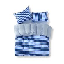 Home Textile stripe duvet cover set twin full queen size bedding set bed linen flat sheet bedclothes cotton and ployester(China (Mainland))