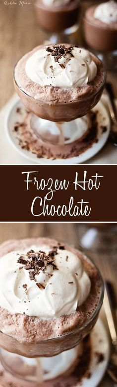 This Frozen hot chocolate is frosty goodness, a copycat serenity recipe I use my ice cream maker to get the perfect consistency and flavor.