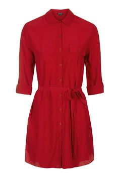 TOP SHOP Belted Shirt Dress