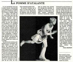 Une peu de #mythologie grecque ? L'histoire de #Atalante. Notre Histoire 25/05/1992