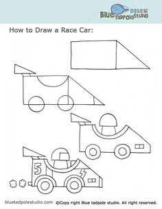 How To Draw A Car Kids Activities Pinterest Cars Drawings