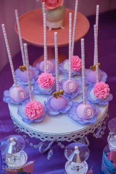 Gorgeous cake pops at a Mary Poppins birthday party! See more party ideas at CatchMyParty.com!