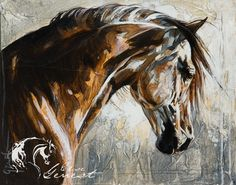 17 Best images about horse art Watercolor Horse, Watercolor Animals, Art Triste, Animal Paintings, Horse Paintings, Pastel Paintings, Horse Artwork, Horse Drawings, Illustration