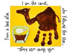 Craft Christmas Handprint Nativity Animals