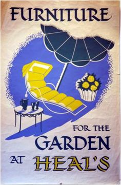Heal's Poster - Furniture for the Garden