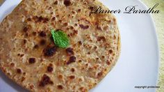 #Paneer #Paratha - delicious and healthy Indian #flatbread filled with spiced paneer/cottage cheese. Enjoyy at any time of the day with just curd or any pickle of your choice.