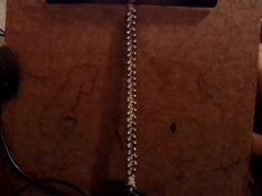 bracelet, standard width with silver beads, hemp core