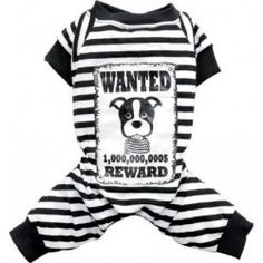 Pyjama rayé noir et blanc WANTED
