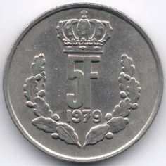 Luxembourg : 5 Francs 1979