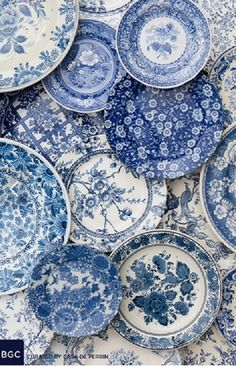 such yumminess! i see several patterns I can identify because Ive been obsessed with blue and white china for such a long time