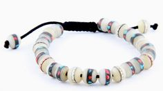 LOVE this bracelet…I hardly ever take it off!  www.KarmaMantra.com - Medicine Bracelet- White, $28.00 (http://www.karmamantra.com/medicine-bracelet-white/)