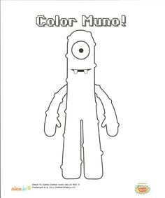what is muno dreaming coloring page yo gabba gabba pinterest yo gabba gabba and gabba gabba