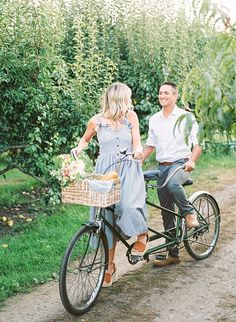Peach Orchard Engagement Photos - Inspired By This