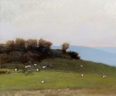 "Marc Bohne ""Sheep in County Mayo"" 10 x 12"" oil on panel"
