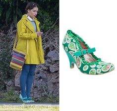 Me Before You: Louisa's Green Print Mary Jane Heels