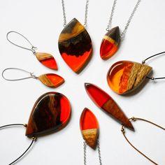 Deep orange BoldB.etsy.com  #necklace #pendant #handmade #melbourne