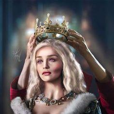 Queen Daenerys I Targaryen by ° ° ° Daenerys Targaryen Aesthetic, Daenerys Targaryen Art, Deanerys Targaryen, Game Of Throne Daenerys, Khaleesi, Arte Game Of Thrones, Game Of Thrones Series, Game Of Thrones Dragons, Game Of Thrones Fans
