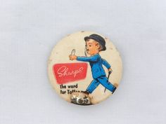 VINTAGE SHARP'S TOFFEE SIR KREEMY KNUT PIN BADGE