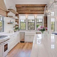Modern Kitchen Interior Remodeling 30 Preeminent Ideas To Decorating A Farmhouse Kitchen Farmhouse Kitchen Cabinets, Modern Farmhouse Kitchens, Farmhouse Style Kitchen, Home Decor Kitchen, Rustic Kitchen, Kitchen Interior, Home Kitchens, Kitchen Ideas, Kitchen Designs