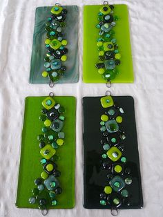 Fused glass   #green #glass #fused