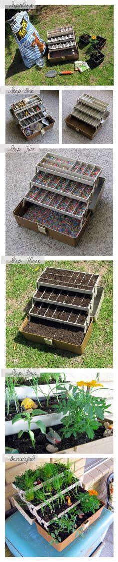 Jardín en caja de herramientas - DIY Toolbox Garden
