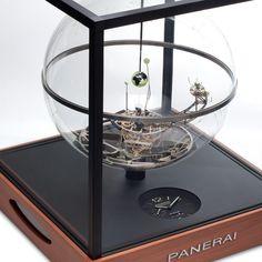 Panerai Jupiterium Clock @DestinationMars Steampunk, Mantle Clock, Sundial, Wooden Clock, Art Sites, Vintage Antiques, Sculpture Art, Fashion Watches, Welt