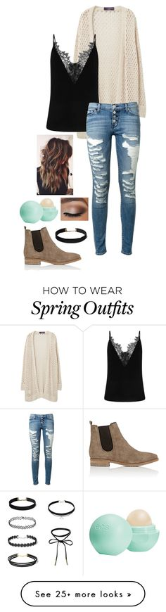 """""""Winter to Spring Outfit"""" by foreverblonde2001 on Polyvore featuring Violeta by Mango, Hudson, Eos and Barneys New York"""