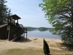Medicine Bow Waterfront in spring at Camp #Yawgoog!  Image by David R. Brierley.