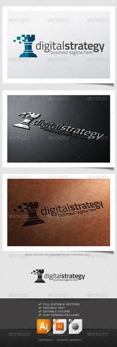 Digital Strategy — Vector EPS #engineering #piece • Available here → https://graphicriver.net/item/digital-strategy/4592338?ref=pxcr