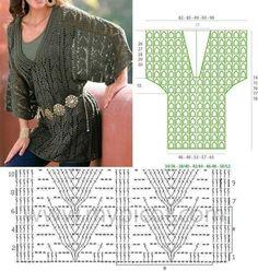 Image gallery – Page 470837336040690498 – Artofit Crochet Coat, Crochet Cardigan Pattern, Granny Square Crochet Pattern, Crochet Blouse, Crochet Clothes, Crochet Stitches, Crochet Patterns, Crochet Summer Dresses, Crochet Fashion