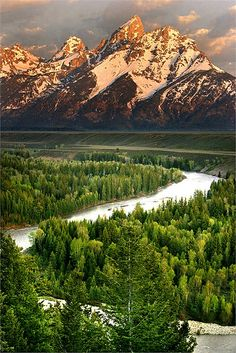 Sunrise at Grand Teton National Park - This is my favorite National Park. It is amazing, like the garden of eden.