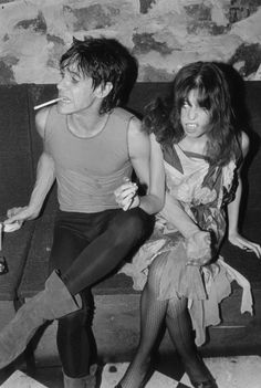 Iggy Pop and Lori Maddox circa 1970s