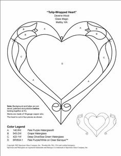 *hundreds of FREE stained glass patterns...could be used for other ideas.