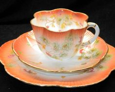 Shelley Wileman Foley China Dainty Tea Cup and Saucer Trio.