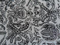 188. Classical batik motif fauna in their environments:Randa Widada. Randa = widow, widada = well being or eternity. Randa widada means a widow who lives happily and in well being.