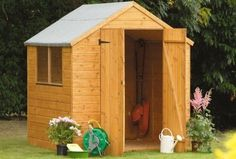 Small Storage Building Plans Diy Garden Shed A Last 68 Small Wood Garden Shed Backyard Storage Sheds, Diy Storage Shed, Wood Storage Sheds, Garden Tool Storage, Small Storage, Storage Ideas, Backyard Sheds, Storage Building Plans, Building A Shed