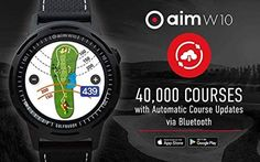 Product Description: Golf Buddy Aim W10 GPS Watch, Advanced Smart Golf Watch, Full-Color Touch Screen, 40,000 Preloaded courses, Black Wristband The Best Golf GPS Watches If you're looking for high-tech assistance to get your handicap down, these golf GPS watches may be able to help you select the right club in a variety of situations. Product reviews Golf Gps Watch, Gps Watches, Product Description, Tech, Club, Black, Products, Black People, Technology