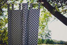 Custom Aztec Southwestern Style Nursery Curtains - Navy Curtains - Gold Curtains - Bedroom Curtains - Blackout Drapes - Blackout Curtains