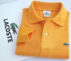 LACOSTE Men's Long Sleeve POLO Shirt in Orange