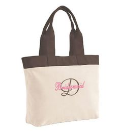 """Personalized """"First Initial & Title"""" Wedding Colors Tote Purse Bridal Party Wedding Gift :) <3"""